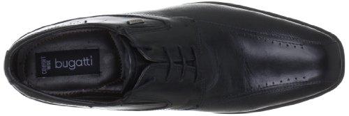 Bugatti T74071 - Zapatos de cordones de cuero para hombre Negro