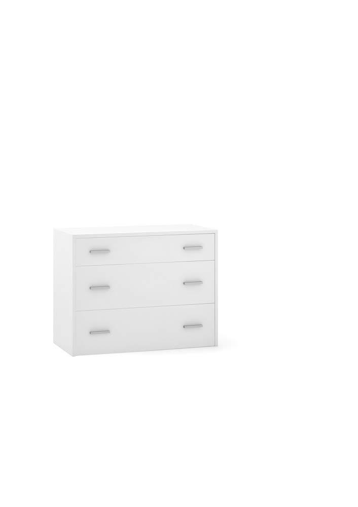 Sarmog Kit Mobile CASSETTIERA 3 CASSETTI H70 L90 P44 Cm Finitura Bianco 448k