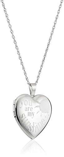 Sterling Silver Sunshine Locket Necklace