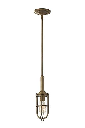 Antique Pendant Light Dark Brass in US - 5