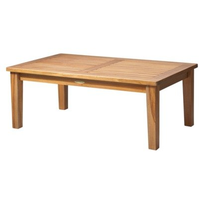 Amazoncom Smith Hawken Brooks Island Wood Patio Coffee Table - Island style coffee table