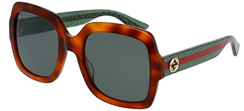 Amazon.com: Gucci Womens Womens Gg0036s 54Mm Sunglasses ...