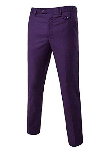 Hx Abiti Fashion Size Comode Uomo In Unita Da Taglie Pantaloni Lunghe Violett Tinta color A Lavoro 33 Maniche B1xnOBa