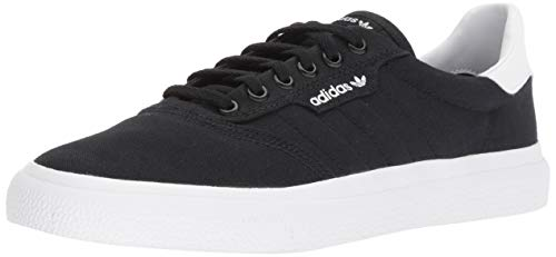 adidas Originals unisex-adult Black/White, 3 MC Skate Shoe 12 M US