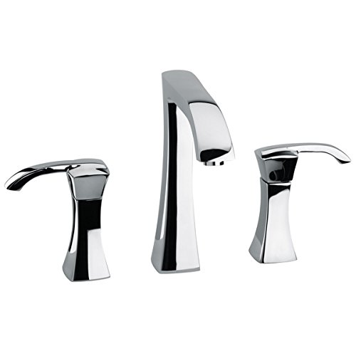 La Toscana 89PW214 Lady 8-Inch Widespread Lavatory Faucet with Pop-Up Drain, Brushed Nickel by La Toscana