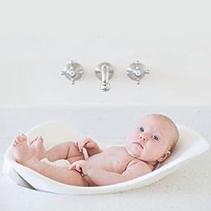 Puj Tub In-Sink Baby Bath, White