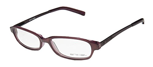 [Animal 054 Womens/Ladies Designer Full-rim Flexible Hinges Eyeglasses/Eyeglass Frame (51-15-135, Mauve /] (Benny And Smalls Costume)