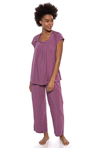 Texere Women's Pajamas in Bamboo Viscose (Bamboo Bliss, Heather Plum, 3X) Comfy