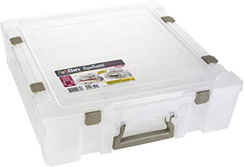Super Satchel Deluxe in Translucent with Divided Lid/One Compartment Base