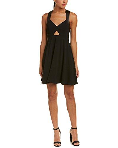 alice and olivia black leather dress - 1