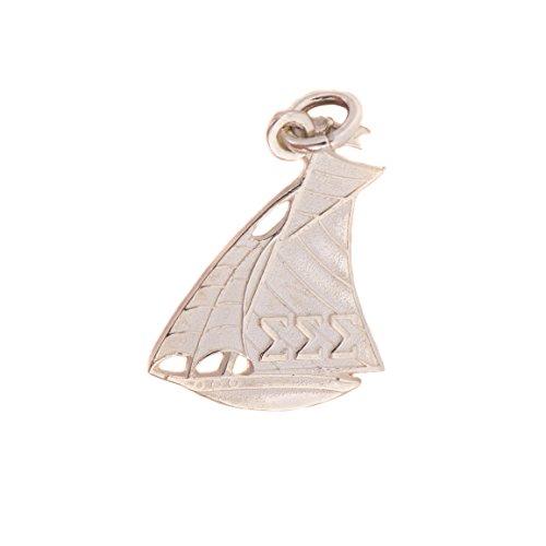 Sigma Sigma Sigma Sorority Sterling Silver Symbol Necklace (New Sailboat) With Chain Tri-Sigma