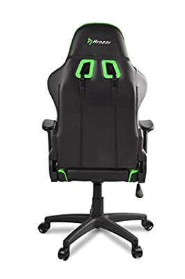 Arozzi VERONA-V2-BK Advanced Racing Style Gaming Chair with High Backrest, Recliner, Swivel, Tilt, Rocker and Seat Height Adjustment, Lumbar and Headrest Pillows