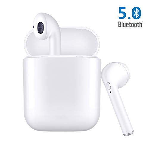 True Wireless Earbuds, Bluetooth 5.0 Earbuds Bluetooth Headphones Bluetooth Headsets Auto Pairing in-Ear Bluetooth Earphones Wireless Headset with Charging Case for Apple Airpods Android/iPhone
