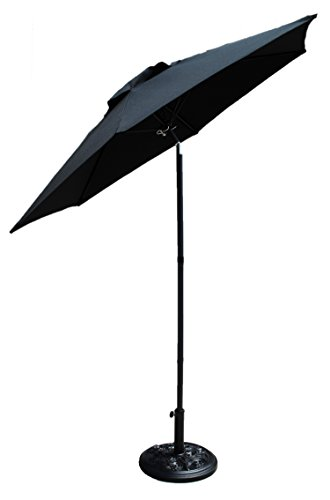 Shop4Omni Patio Shade Umbrella With Tilt (Black)