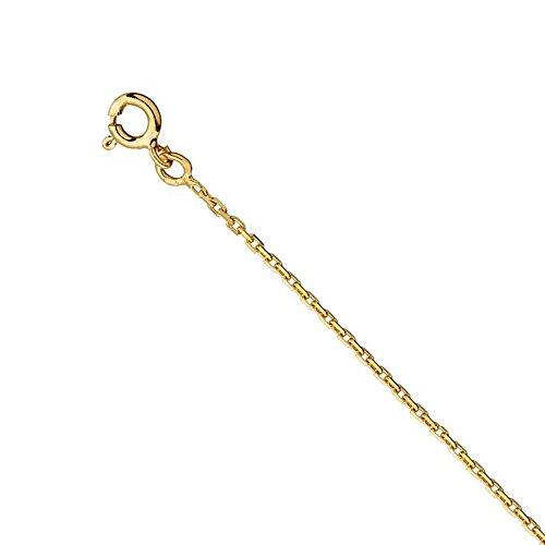 Tousmesbijoux Collier chaine forçat diamantée 1 mm Or jaune 375/00 - 45 cm