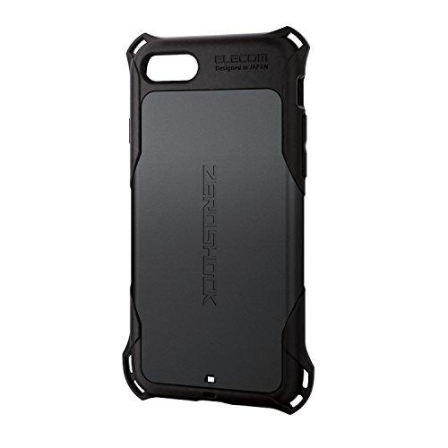 エレコム iPhone8 ケース カバー 衝撃吸収 【落下時の衝撃から本体を守る】 ZEROSHOCK スタンダード 衝撃吸収 iPhone7 対応 ブラック PM-A17MZEROBK