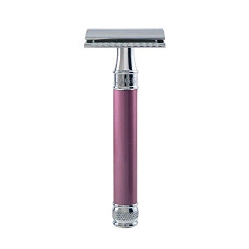 Edwin Jagger DE Safety Razor, Extra Long' Handle, Rose (Best Edwin Jagger Safety Razor)