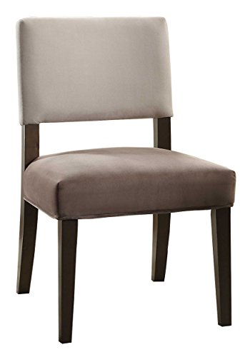 (Homelegance Jacinta Two-Tone Fabric Accent Chair (Set of 2), Gray)