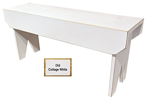 Sawdust City Wooden Bench 3ft Long (Old Cottage White)