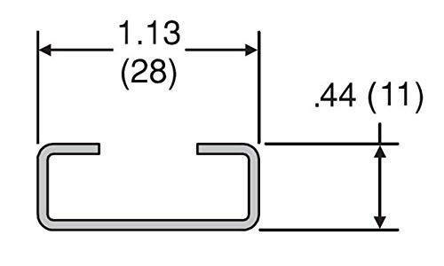 Parker R-1 Mounting Rails 3.28 Steel