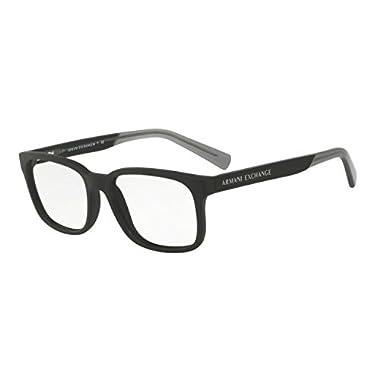 6ade842cb527 Armani Exchange AX3029 Eyeglass Frames 8182-54 - Matte Black AX3029-8182-54