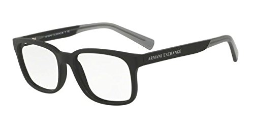 Designer Prescription Eyeglasses - Armani Exchange AX3029 Eyeglass Frames 8182-54 - Matte Black AX3029-8182-54