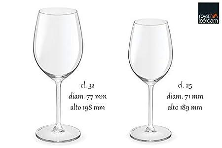 Royal Leerdam Wijnglazen.Royal Leerdam Wijnglas Esprit 53 Cl 6 Stuks Amazon Co Uk Kitchen