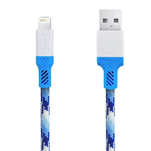Paracable Paraflex Lightning Cable (3ft), MFi Certified for Perfect Compatibility with iPhone Xs Max/XS/XR/X / 8 Plus / 8/7 Plus / 7/6 Plus / 6 / 5S / 5 and More (Glacier)