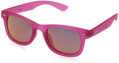 Polaroid Sunglasses PLD8009N Polarized Wayfarer Sunglasses, Bright Pink/Brown Mirror Polarized, 45 mm (Pink Polarized)