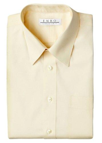 Enro Non-iron Perfect Pinpoint Dress Shirt (18 34/35, Ecru) Enro Pinpoint