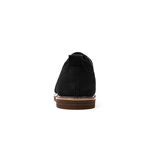 Stivali Per di Casual uomo da Martin Invernale Pelle Vintage Nero Confortevole COUTUDI Scarpe L'autunno qZzvCw