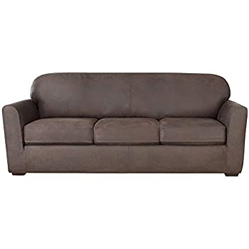 Amazon Com Surefit Ultimate Stretch Leather Sofa Slipcover