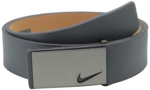 Nike Men's Sleek Modern Plaque Belt, Dark Grey, 36
