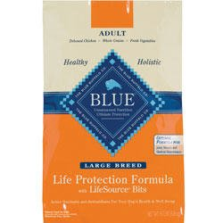 Blue Buffalo Large Breed Chicken and Brown Rice Dog Food 30 lbs, My Pet Supplies