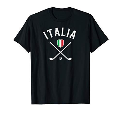 Italy Golf T-Shirt - Italian Flag Golf Tee (Golf Italian Flag Shirt)