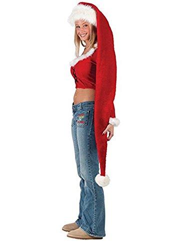 Yansanido 5 Feet Long Santa Hat 61''x12'' for Fun-Filled Christmas and Holiday Party (Long Santa Hat 61''x12'')