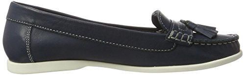 Mocasines Azul Mujer Bianco Blue Sailor Tassel para Navy Loafer Jfm17 4nnvIS7q