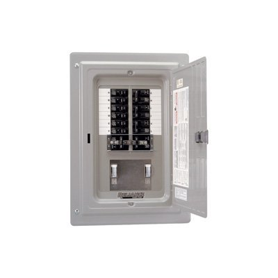 Reliance Prewired Generator Transfer Panel - 12 Circuits, 60 Amps, 125/250 Volts, 15,000 Watts, Model Number TRC1006CP9 by Reliance Products