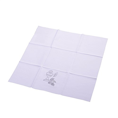 BLESSUME Church Chalice Square Corporal White Altar Cloth by BLESSUME