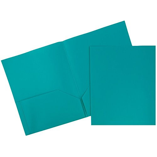 UPC 799418496306, JAM Paper Plastic 2-Pocket Folders - Eco Friendly Folder - Teal - Pack of 6