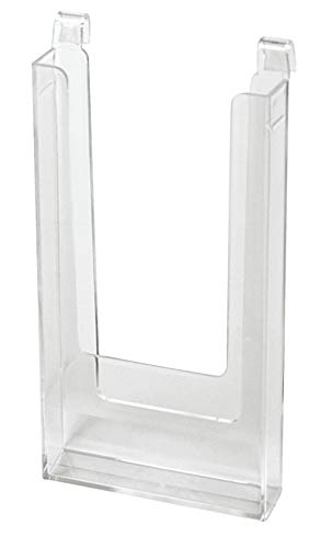 4 ½ x 8 ½ inch Clear Acrylic Literature Holder for Wire Grid - Fits 3