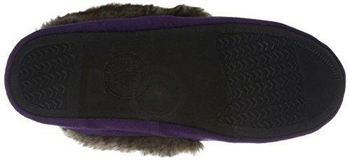 Isotoner Femmes Microsuede Hazel Tundra Moc Plat Violet Encre