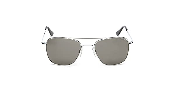 aa9f5f908ab Amazon.com  Randolph Aviator Bright Chrome Skull Temple Sunglasses  Clothing
