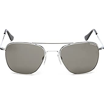 037fa53640d Amazon.com  Randolph Aviator Bright Chrome Skull Temple Sunglasses ...