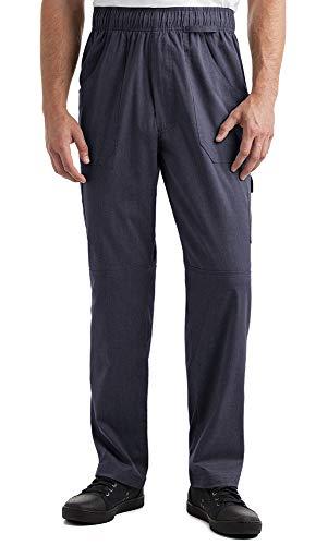 Men's Stretch Cargo Chef Pant (XS-3X, 2 Colors) (XXX-Large, Indigo Denim)