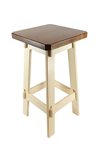(Kiboko LLC Stupendously Sturdy Counter Stools, Cherry Stained Premium Maple Thick Top, Counter Height, 24 Inches)