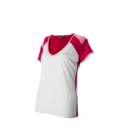 Head Girls Victoria Camiseta de color blanco/rojo: Amazon.es: Deportes y aire libre