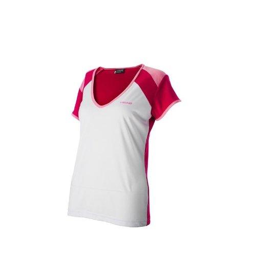 Head Girls Victoria Camiseta de color blanco/rojo: Amazon.es ...