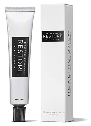 Doctor Rogers RESTORE Healing Balm – The Safe Sustainable Way To RESTORE Your Skin, Lips Nails from irritation and injury. Plant-based, Hypoallergenic, Dermatologist Created – .5oz Tube