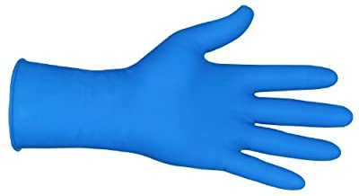 MCR Safety 5048S 12-Inch Med-Tech Latex Disposable Medical Grade Powder Free High Visibility Gloves with Rolled Cuff, Blue, Small, 1-Pair